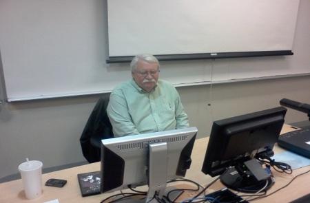 Gerald Williams, Intercultural Communications teacher, explores his next lesson. By Shanel Fort, CCC Journalism Program