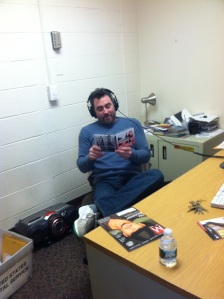 Jamie Myerson supervises WDBK-FM, the Camden County College radio station. By Myles Geiger, CCC Journalism Program