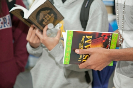 Students pick up general information about Islam and the Muslim religion.
