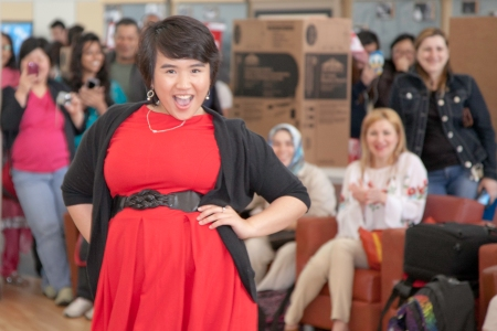 Jashel Linchangco was one of the models during the fashion show at the 2013 International Day event.