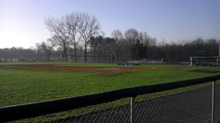 The Blackwood campus baseball field awaits a showdown between Cumberland County College and Camden County College. By Angel Nogueras, CCC Journalism Program
