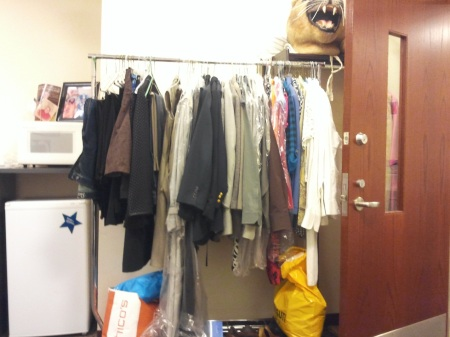 The donations for the Suit Yourself Event are collected in the Student Life and Activities Office. By Chris O'Grady, CCC Journalism Program