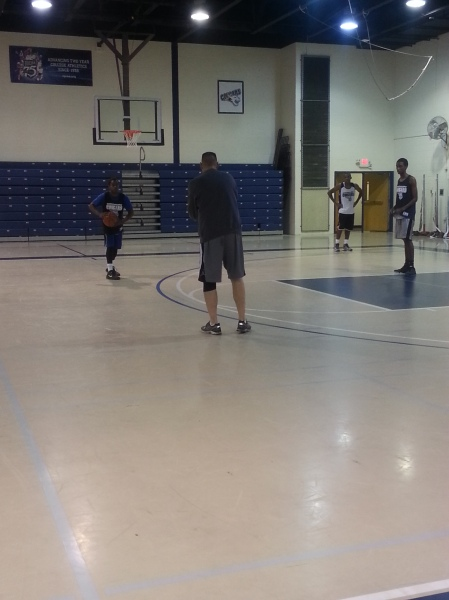 Mens Basketball Team  Practicing For 2013-2014 Season By Melissa Morales, CCC Journalism Program