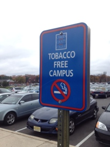The ban on tobacco on campus is among the areas addressed by student disciplinary policies. By Michael Rubinson, CCC Journalism Program