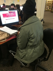 Student Siani Israel chooses to access her student email through the Camden County website instead of MyCCC. By Jacqueline Jackson, CCC Journalism Program