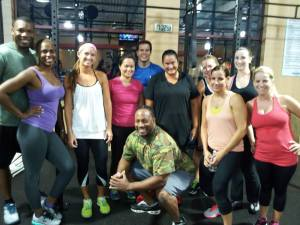 Jerome's night time crossfit class