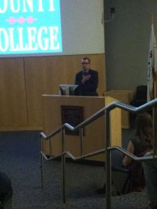 Dr. Bryan Just presents Gods and Demons in Maya Art on April 10 in Civic Hall. By Rachel Foster, CCC Journalism Program