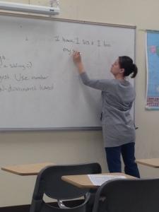 SallyAnn Emilius teaches American Sign Language at Camden County College. By Maria Gomez, CCC Journalism Program