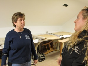 Cathy Ledden (left) has a moment of frustration with her longtime business partner Marylee Morinelli (right) while on site.