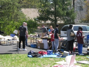 What a normal yard sale looks like.