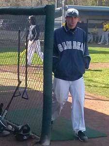 John Merkh works as an assistant coach of the Camden County College Cougars baseball team. By Noreen Peebles, CCC Journalism Program