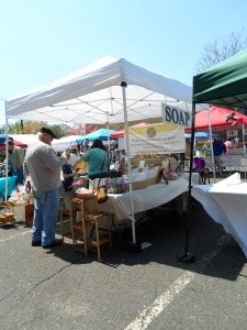 Just one of the multiple vendors selling green/organic soaps.