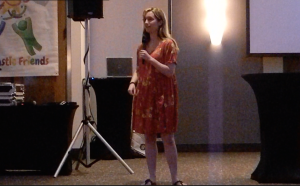Gabe Costa, a fantastic friend since the beginning who was diagnosed with aspergers when she was two but didn't find out until she was in sixth grade. She is speaking about her disorder and how her experience with Fantastic Friends has been.