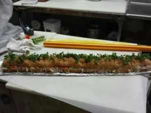 Party hoagie Omega made, this can feed up to about 12 people.