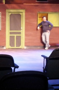 An actor rehearses a scene. By Zach Meyers, CCC Journalism Program