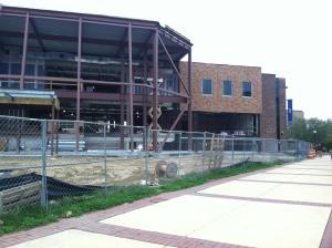 Taft Hall under construction