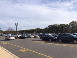 Cars are parked in the main parking lot of the Blackwood campus of Camden County College recently. By Estefanie Bockeler, CCC Journalism Program.