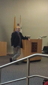 Dr. Ralph Gallo gives a presentation on sleep and special needs Nov. 10 in Civic Hall. By Taryn Lawlis, CCC Journalism Program