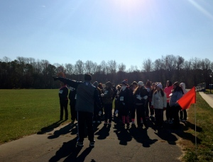Dr. Peter DiLorenzo and participants prepare for the 2014 Turkey Trot. By Alessandra Kraatz, CCC Journalism Program.