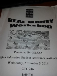 Real Money 101 will provide information about financial literacy. By Briana Robinson, CCC Journalism Program.