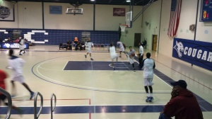 The Camden County College men's basketball team warms up. By Alex Paolini, CCC Journalism Program.