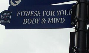 Sign located outside Papiano Gym