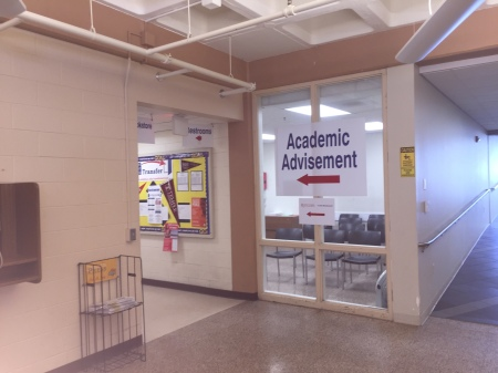 The academic advisement office on the Blackwood campus is in the community center. By Flynn Neary, CCC Journalism Program