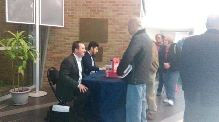 CNN's Paul Cruickshank speaks with fans at Camden County College. By Anthony Petitt, CCC Journalism Program