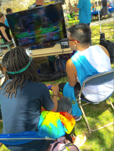 Students Reet Taylor and Kristian Juarez compete in Super Smash Brothers at the annual Spring Fling. By Kelsea Woodley, CCC Journalism Program