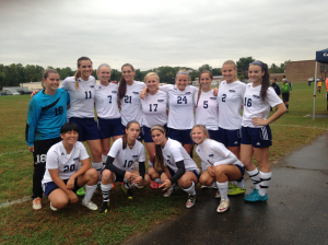 The Camden County women's soccer team ties their game with rival RCGC after double over time.