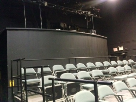 The Little Theatre is being set up for an upcoming show. By Aniell Ortiz, CCC Journalism Program