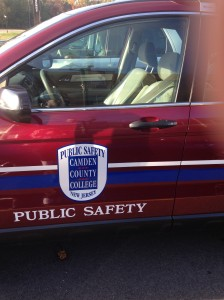 A public safety vehicle sits on the campus. By Laniesha David, CCC Journalism Program