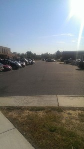A car was stolen from this lot on the Camden County College Blackwood campus in September. By Qaadir Wicks, CCC Journalism Program