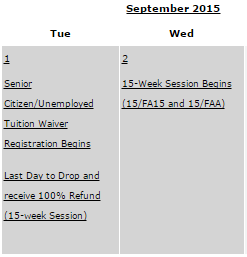 An online item includes the schedule for withdrawing from classes. By Reet Taylor, CCC Journalism Program
