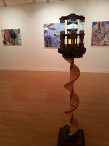 """Oracle"" by Phil Rychert is one of the works in the faculty show. By Victoria Acklerly, CCC Journalism Program"