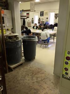 Students prepare for the holiday ceramic workshop. By Michael Penn, CCC Journalism Program