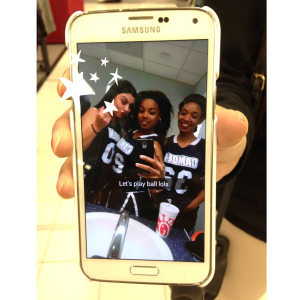 Some of the Lady Cougars take a selfie. By Laniesha David, CCC Journalism Program