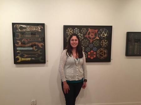 Marlin Art Gallery Director Kassandra Huerta stands in the gallery. By Matthew Harris,  CCC Journalism Program