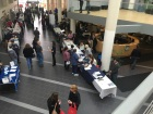 Second floor view of the open house in full swing. Photo by Brian Garris, CCC Journalism Program