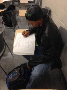 Bryce Sydnor, a sophomore at Camden County College, calls Donald Trump's tuition proposal realistic. By Andria Dawson, CCC Journalism Program
