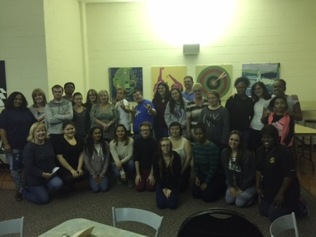 Participants gather at the Sign & Switch event. By Amir Q. Lewis, CCC Journalism Program