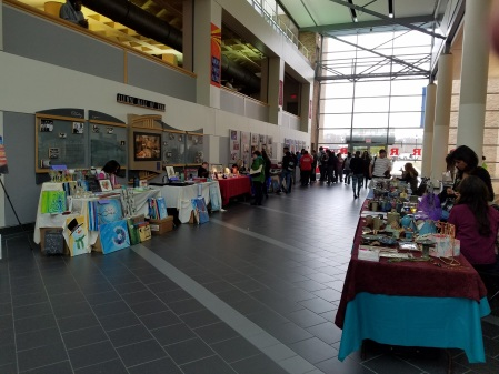 The holiday bazaar takes place in the Connector Building. By Eric Viereck, CCC Journalism Program