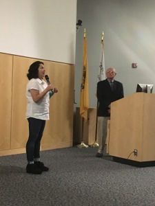 Tal Recanti (left) and John Pesda participate in a post-screening discussion. By Erin Banes, CCC Journalism Program