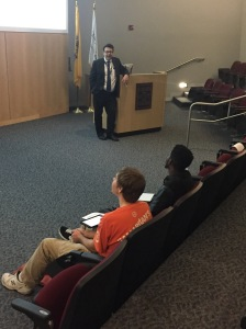 Students listen to Joe Pranzatelli give tips on creating resumes By Jenna Jablonski, CCC Journalism Program